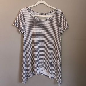 Sonoma Striped Beige Short Sleeved Tee